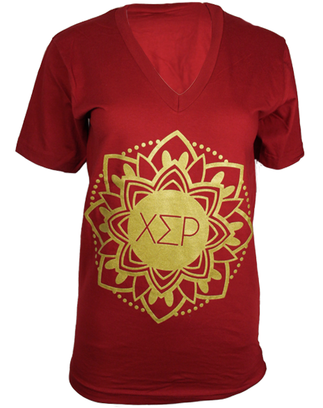 Chi Sigma Rho Unity Vneck by Adam Block Design | Custom Greek Apparel & Sorority Clothes | www.adamblockdesign.com
