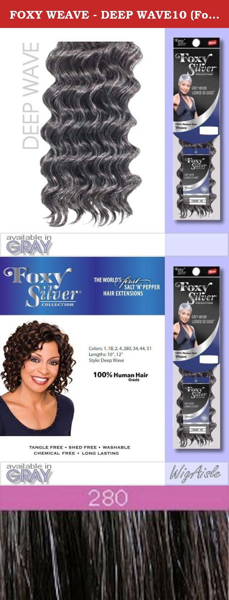 Foxy Weave Deep Wave10 Foxy Silver Human Hair Blend Weave I