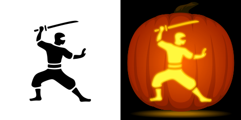 ninja pumpkin template  Pin by Muse Printables on Pumpkin Carving Stencils in 6 ...