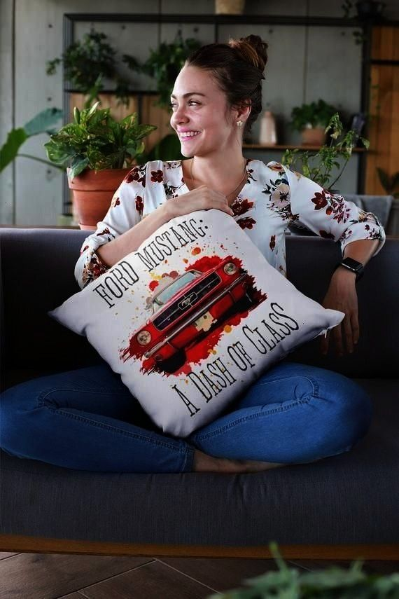 25% Discount  on All Items! Mustang Throw Pillow, Ford Mustang: Dash of Class Pillow, Mustang Pill