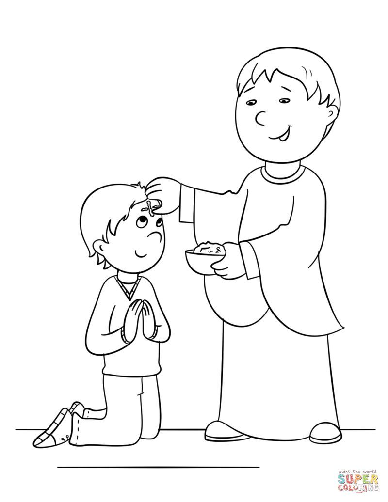 Lent Ash Wednesday Coloring Pages From Ash Wednesday Coloring