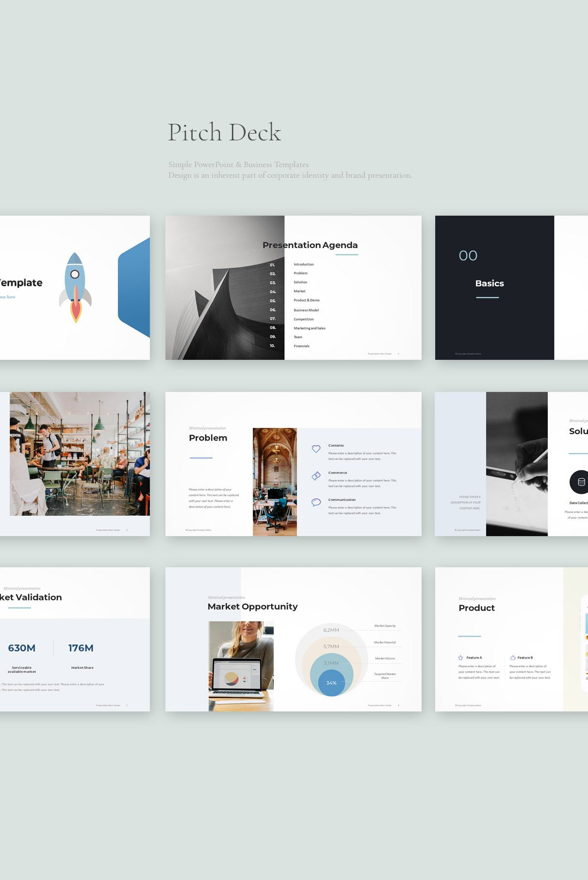 Pitch Deck Powerpoint Template Pptwear Com Download Ppt Business Powerpoint Templates Simple Powerpoint Templates Business Powerpoint Presentation