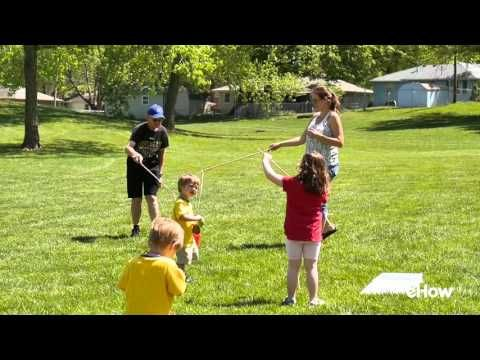 How to Make Giant Soap Bubbles: Simple recipe for homemade bubble solution that creates truly giant bubbles. Even small children can make huge bubbles with this solution.