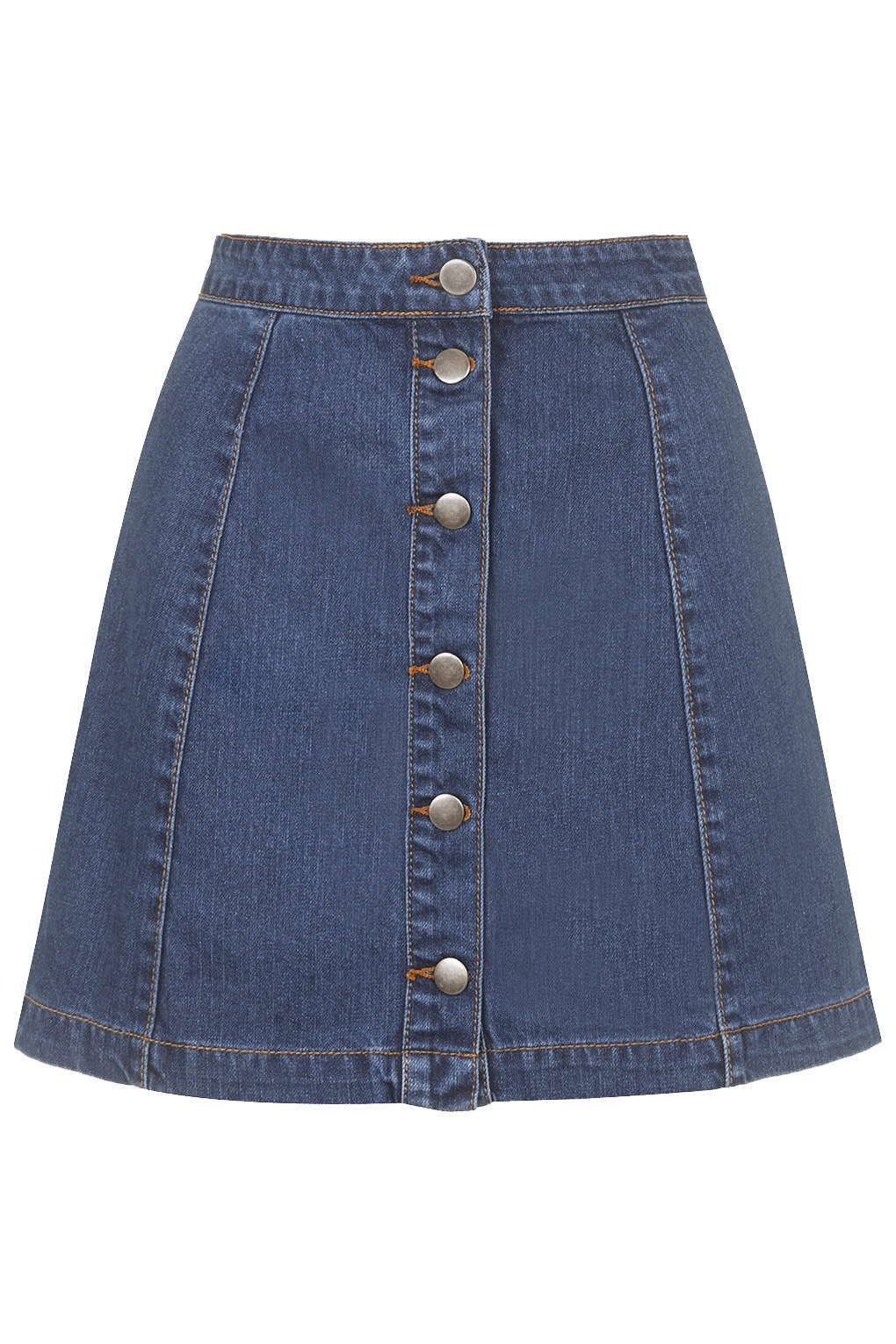 A-Line Denim Skirt by Glamorous - Denim - Clothing | Topshop ...