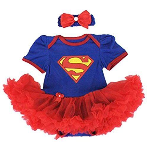 7a325f3a0192 Starkma Supergirl Newborn Infant Baby Girl Set Clothe Cake Dress S01 (M(3-