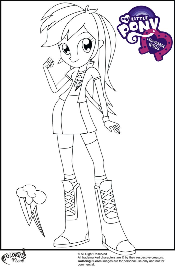 Rainbow Dash Pony Coloring Pages Printable