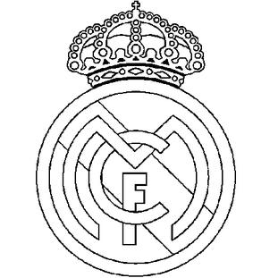 Coloriage Real Madrid En Ligne Gratuit A Imprimer Logo Real Madrid Coloriage Foot Coloriage