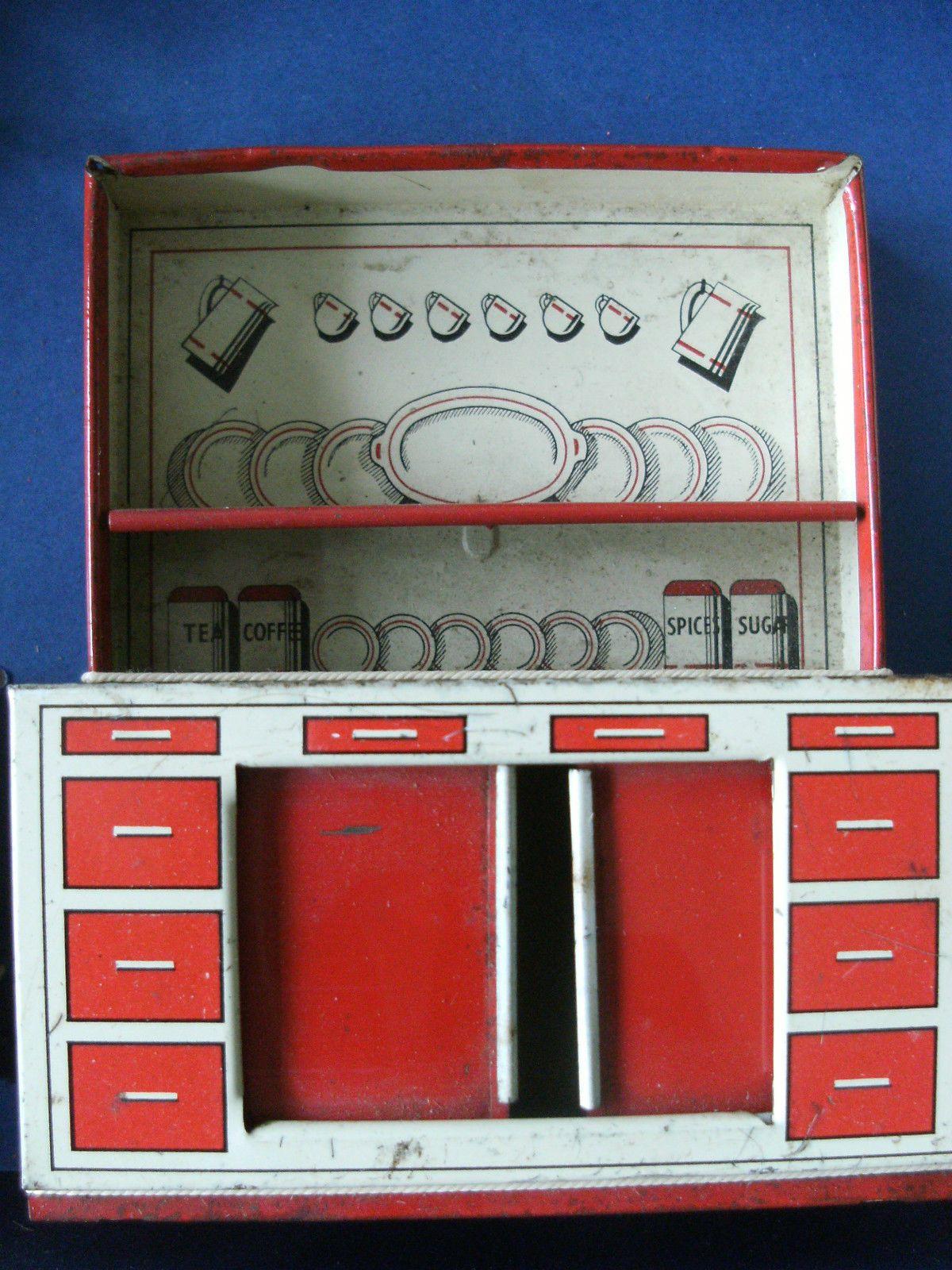 Dolls House Kitchen Furniture Brimtoy Dolls House Tinplate Kitchen Items And Furniture Ebay