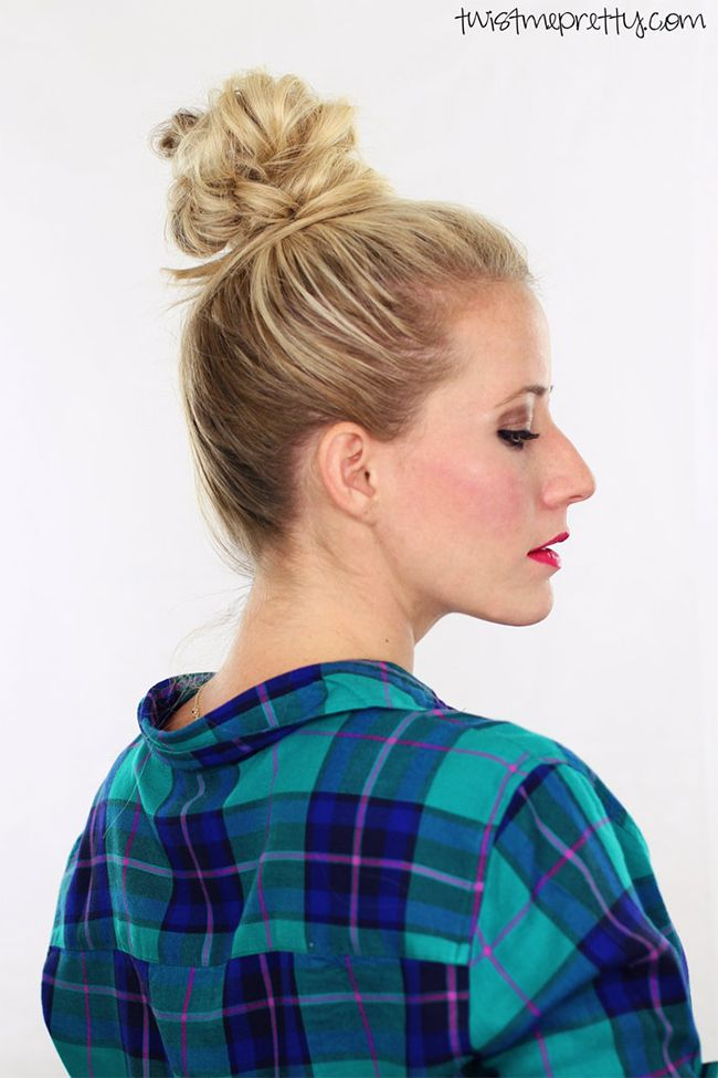 9 Easy Styles to Better Your Bun | Top knot, Easy top knot, Short hair updo
