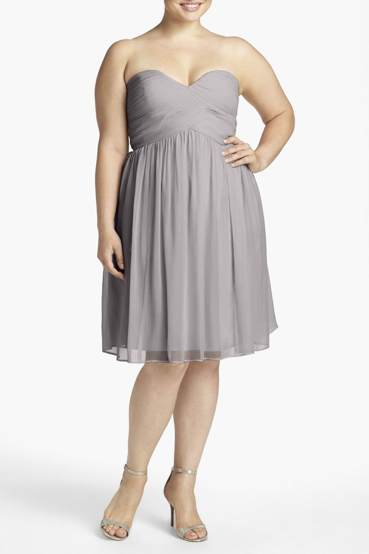 Donna Morgan | 'Morgan' Strapless Silk Chiffon Dress (Plus Size ...