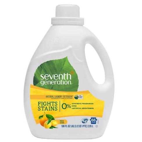 Seventh Generation Fresh Citrus Natural Laundry Detergent 100 Fl Oz