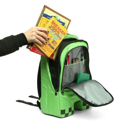 Minecraft Creeper School Bag Backpack2 Minecraft Backpack bc8855140e8ce