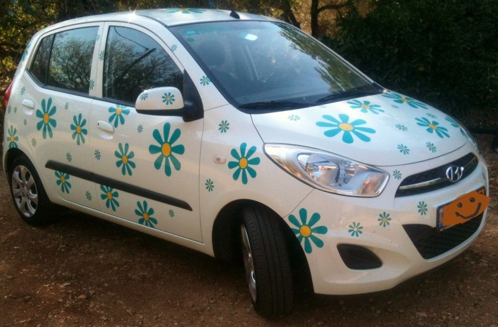 Daisy Vinyl Flower Car Decals Transfer Stickers By Hippy Motors - Vinyl decals for cars uk