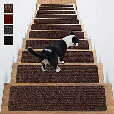 Best Stair Treads Non Slip Carpet Indoor Set Of 14 Brown Carpet 400 x 300