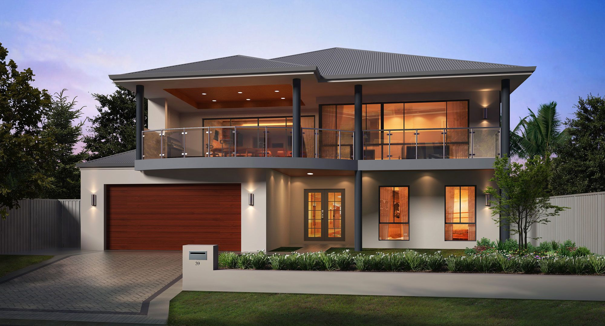 Simple house plans fiji front design for Modern double storey house plans