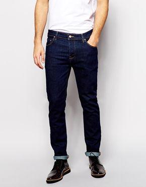 ASOS Stretch Slim Jeans In Indigo
