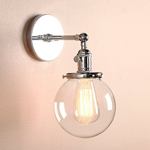 Permo Vintage Industrial Wall Sconce Lighting Fixture with Mini 5.9 ...