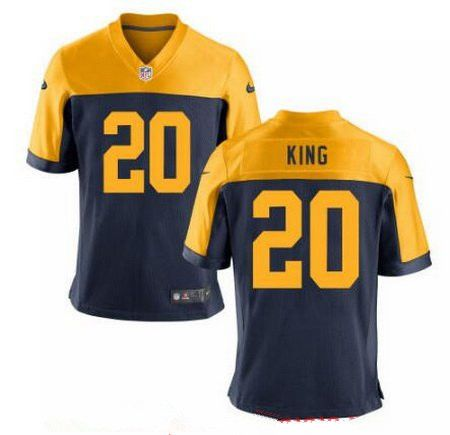 nfl jersey size 50 how big Green Bay Packers Nike Customized Throwback Game  Jersey - Navy 094c5108b