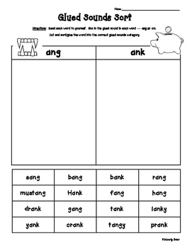 Operations With Negative Numbers Worksheet Excel Glued Sounds Am An Ing Ung Ink Unk Ang Ank Ong  Onk Sort  Reading Comprehension Worksheets Second Grade Pdf with Writing Worksheets For 1st Grade I Created This Worksheet Pack For The Students To Practice Reading Words  With The Glued Sounds Functions Worksheet Kuta Word
