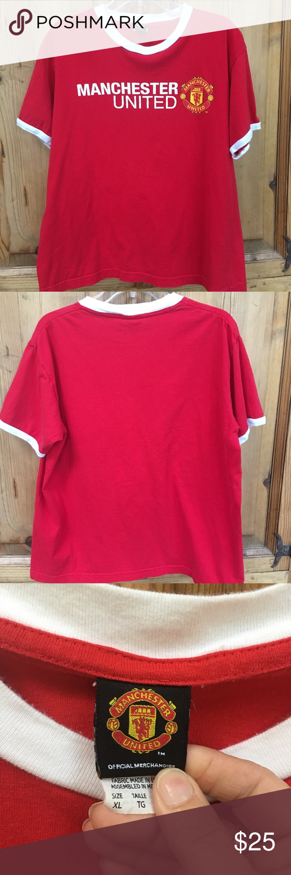 Manchester United FC T-Shirt Ladies, here's your chance to show your fave soccer club some love! Manchester United Football Club fan t-shirt, size XL. May be vintage. Tops Tees - Short Sleeve
