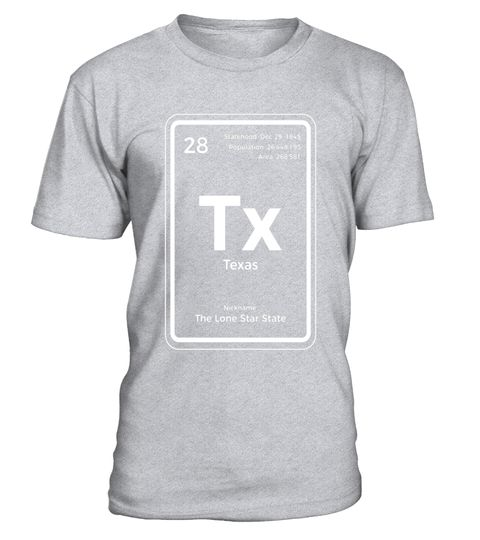 Texas T Shirt Periodic Table Lone Star State Special Offer Not