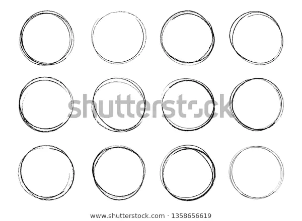 Hand Drawn Circles Round Doodle Loops Stock Vector Royalty Free 1358656619 How To Draw Hands Doodles Circle