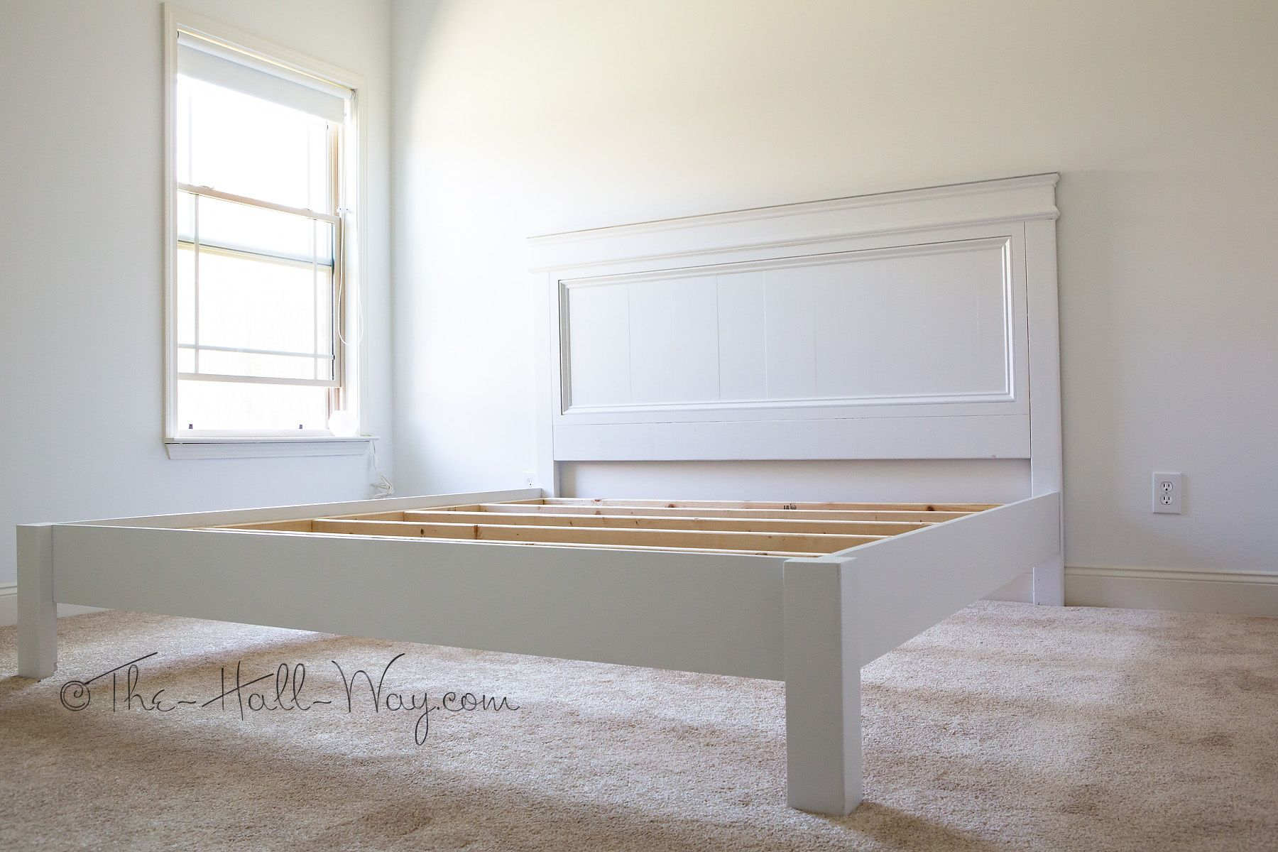 Designs for beds wood bed frame designs wood bed frame - King Size Fancy Farmhouse Bed Free Plans From Ana White