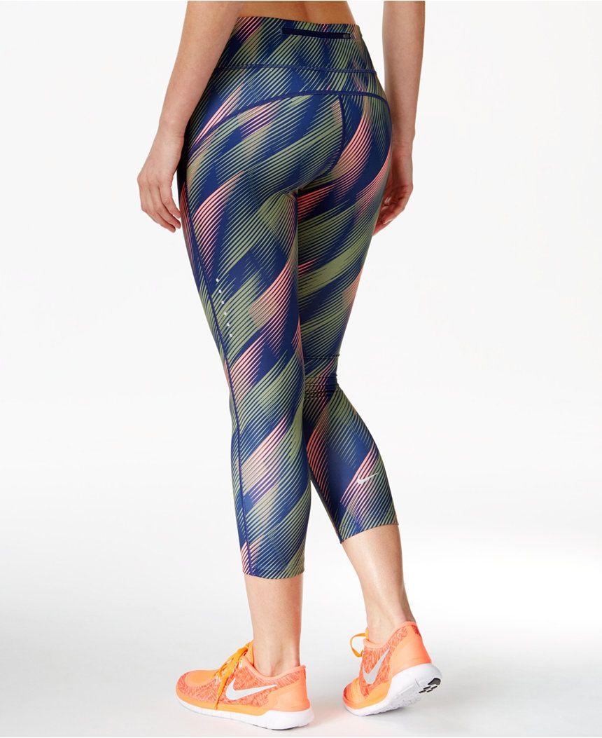 9040fcca191e0 Nike Power Epic Run Printed Capri Leggings - Pants & Capris - Women - Macy's
