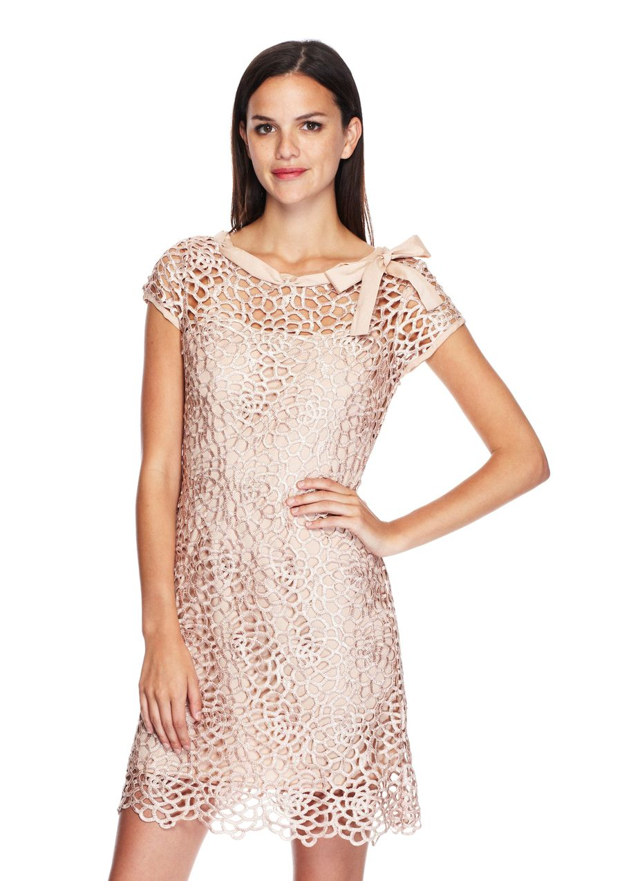 Ideeli gracia short sleeve dress with floral lace clothes