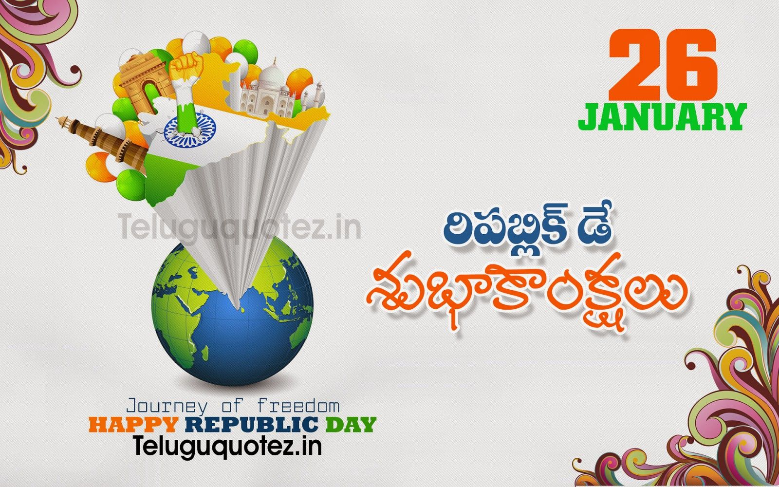 Naveengfx Com Republic Day Telugu Greeting Republic Day Speech
