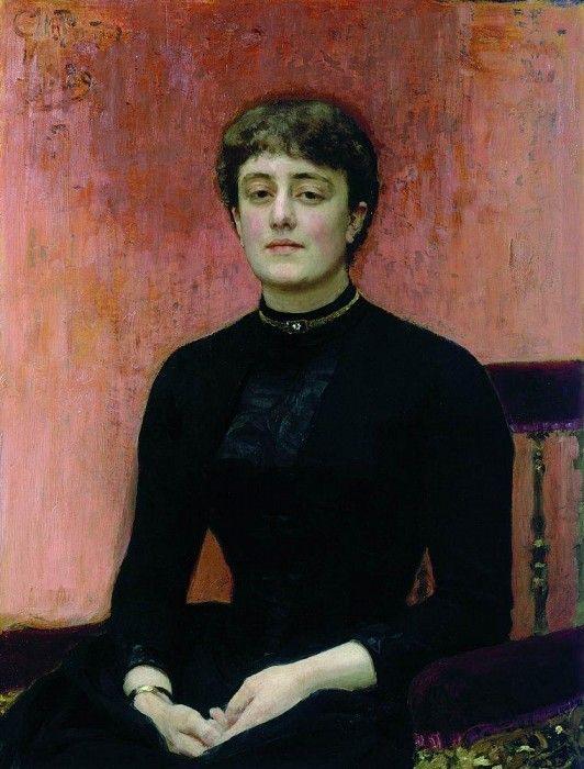 Портрет Е. Н. Званцевой. 1889. Илья Ефимович Репин