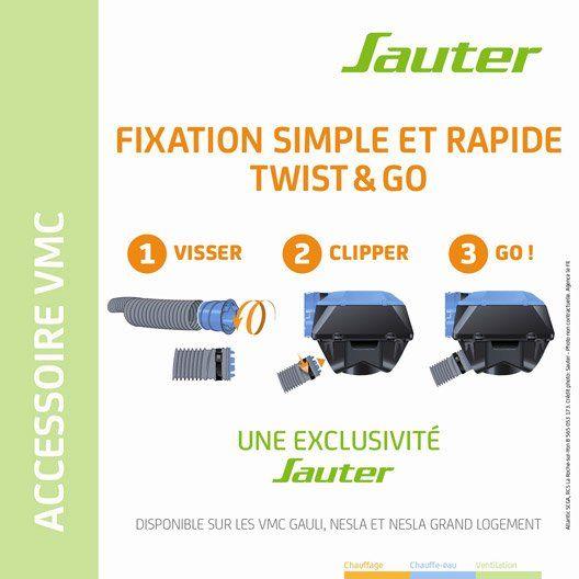 Piquage Sanitaire Pvc Sauter Diam8080 Mm Twist Go Pour