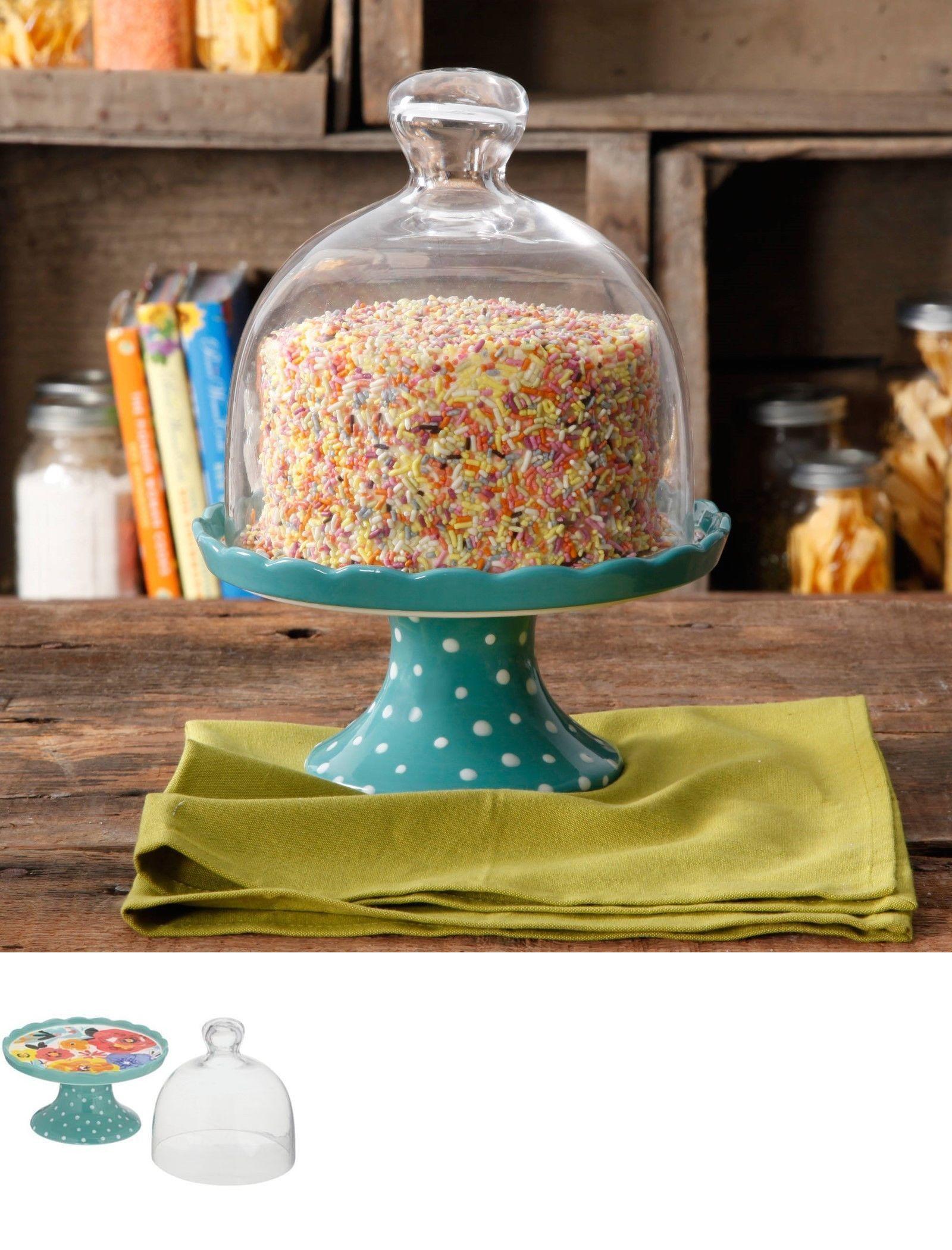 Cake stands 177010 pioneer woman flea market ceramic mini