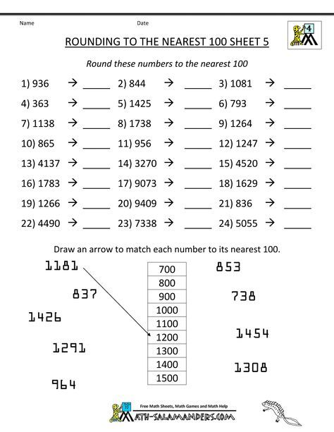 Resources Rounding To The Nearest Ten Or Hundred 3rd Grade Math