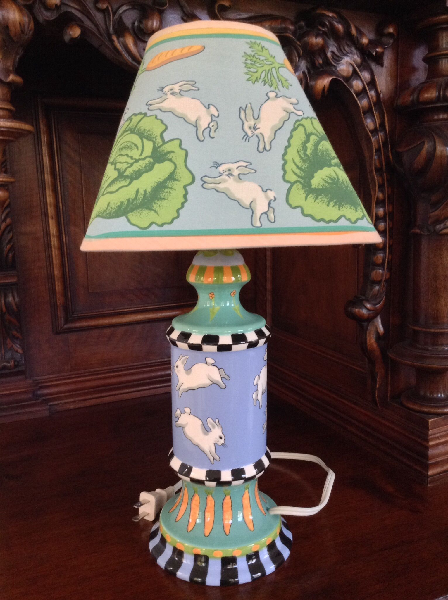 Rabbit Runn Designs A Kitchen Makeover: Patricia Dupont Bunny Lamp