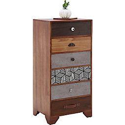 Kommode Aus Holz Im Vintage Stil Heather Multicolor Braun Modern Holz Holzwerkstoff 50 102 35cm Momax Modern Living Furniture Decor Home Decor