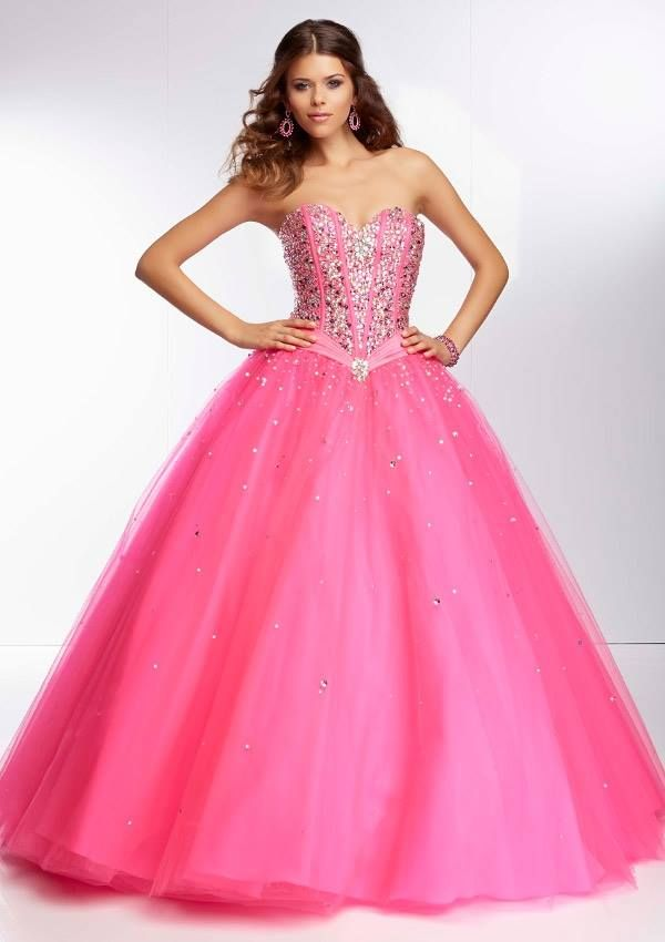Style YAZEA Beaded Satin and Tulle Ball Gown Corset Tie Back. Colors ...