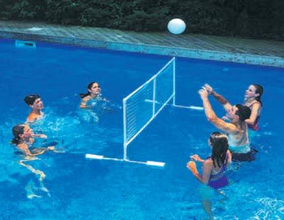 Diy floating volleyball net google search volleyball - Swimming pool games for two players ...