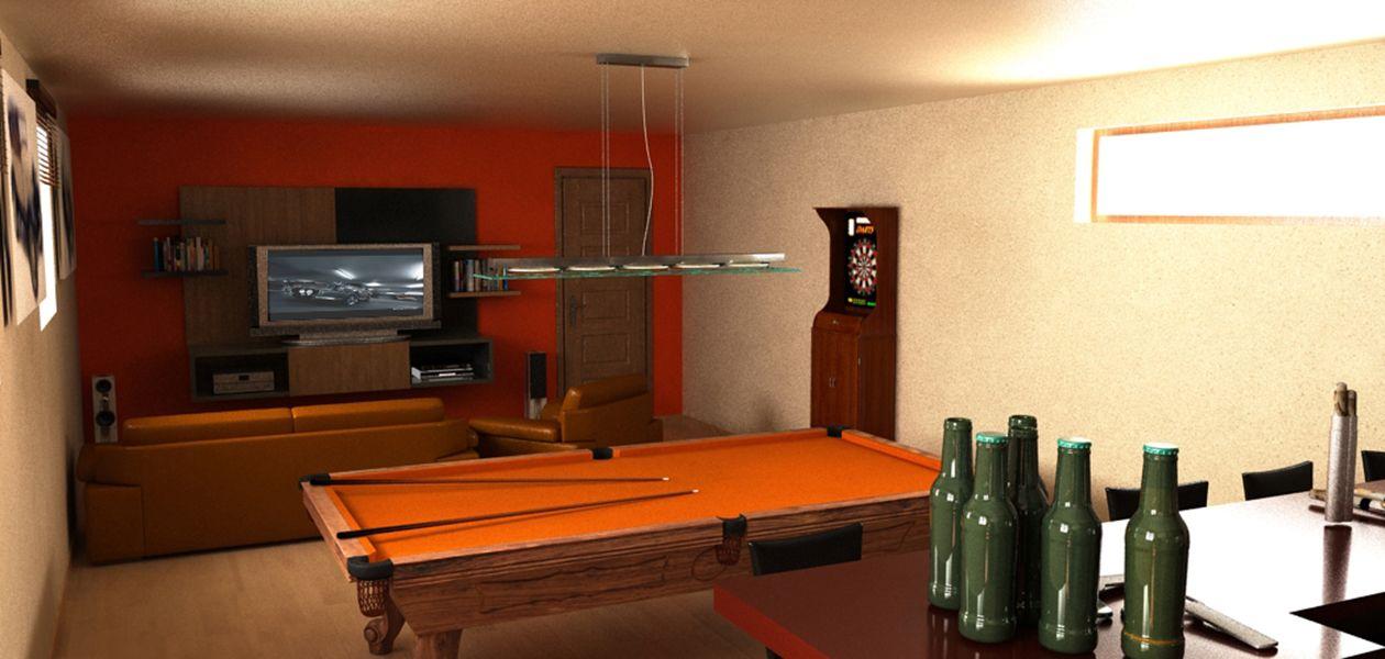 Sala de juegos y bar | I3 Diseño | QUINCHO | Pinterest | Sala de ...