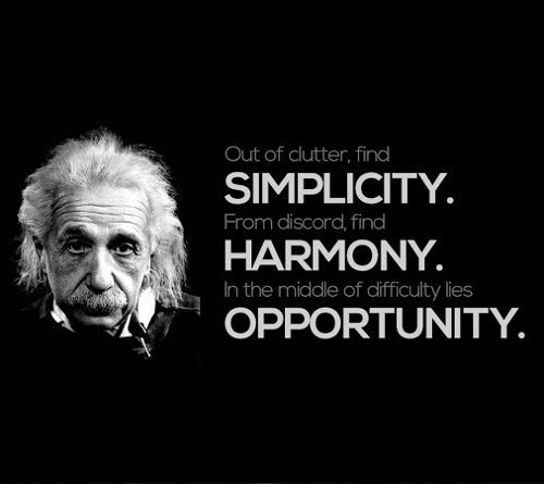 authentic Albert Einstein quotes: harmony opportunity ...