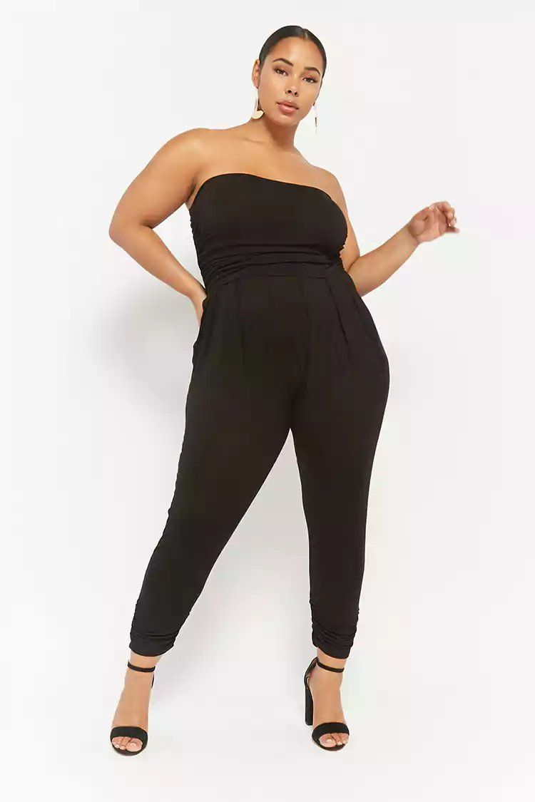 366e0404cbc Product Name Plus Size Ruched Strapless Jumpsuit