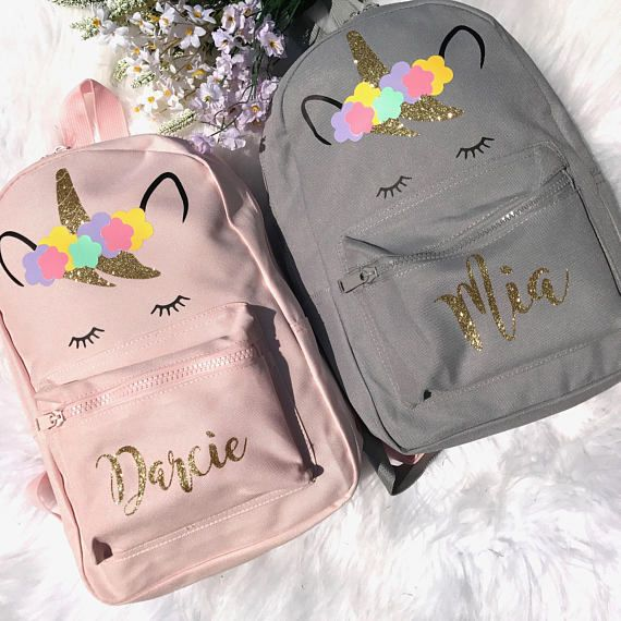 abb05af21c Unicorn Backpack - Personalised Backpack - Girls Backpack - Pink ...
