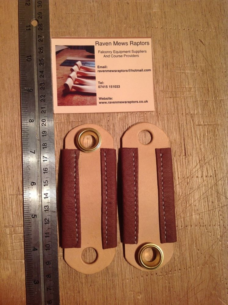 Falconry Leather Anklets including eyelets