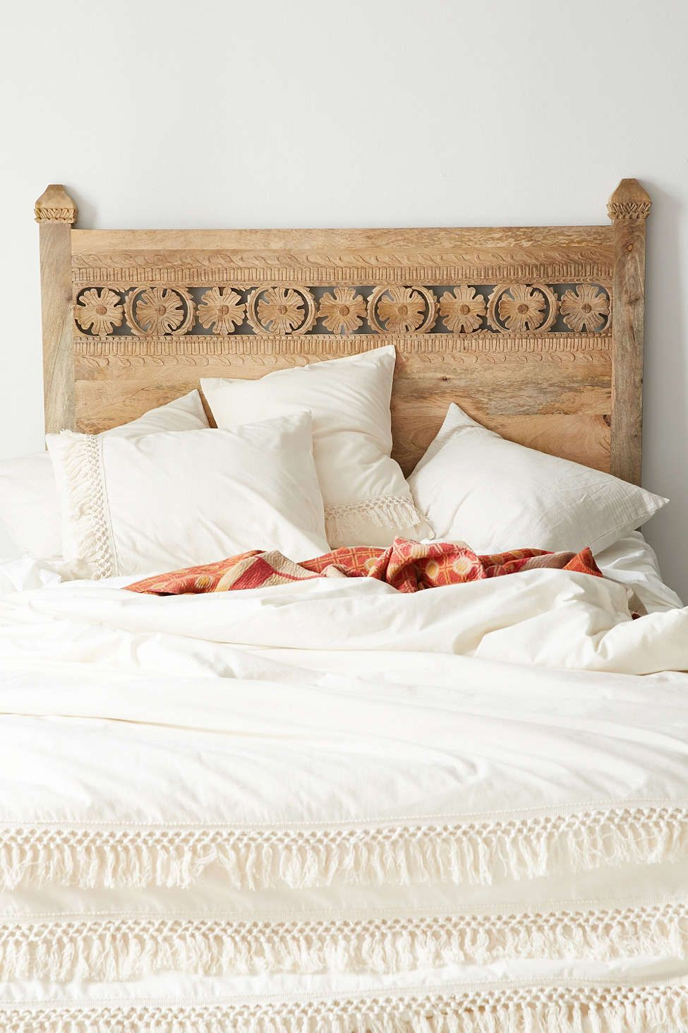 Bohemian Platform Bed Carved Headboard Bohemian Platform Bed Bed
