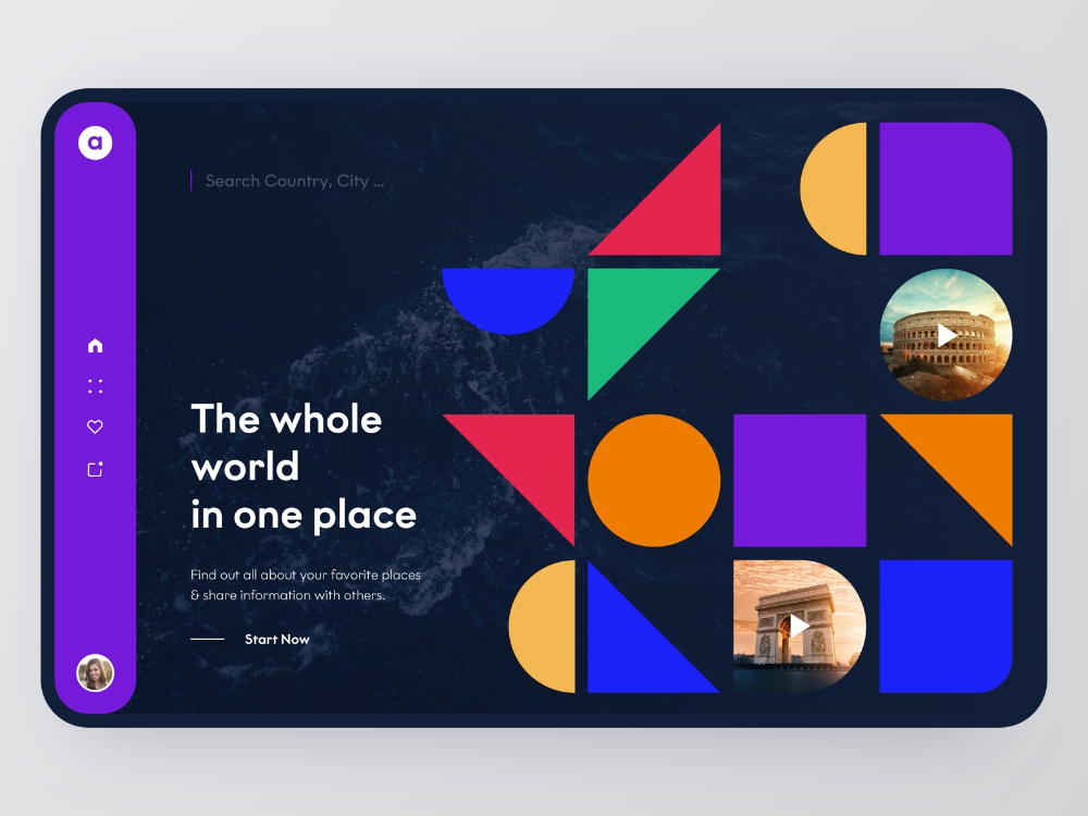 Travel Community Landing Page - Web Design