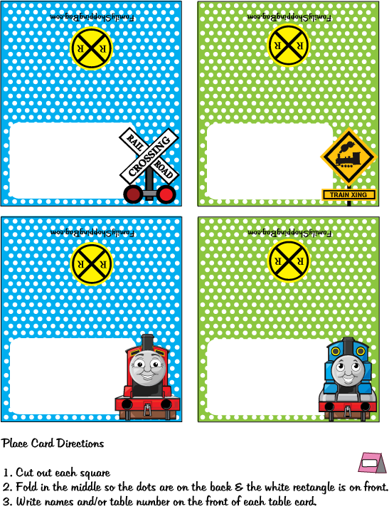 Http Www Familyshoppingbag Com Upload Fetch Category 145 Voq5hvi5dax Thomas The Train Party Thomas And Friends Place Cards