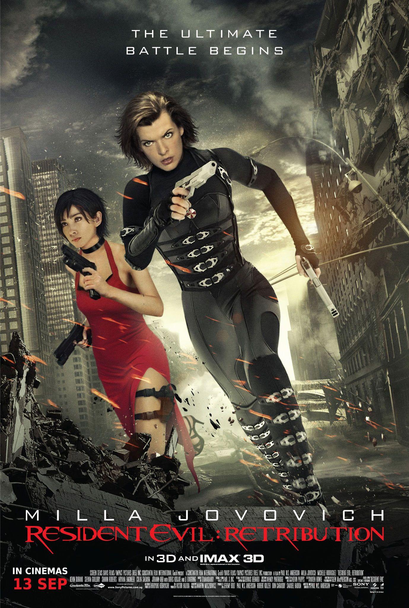 Resident Evil Movie Poster Resident Evil Retribution Poster Free Download X