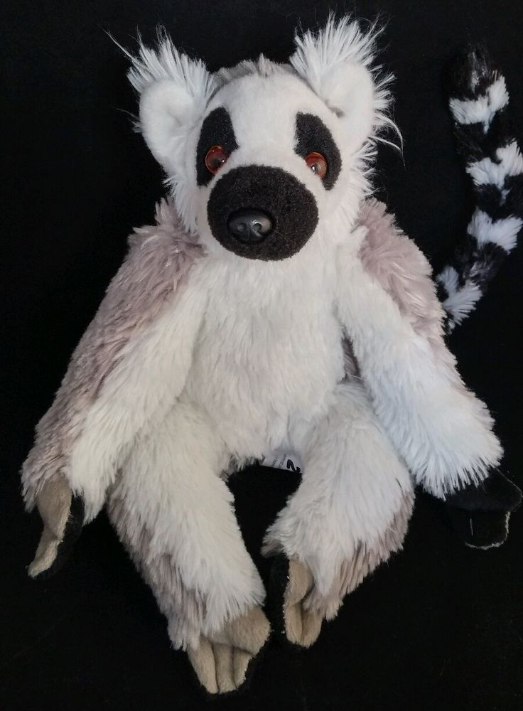 Wild Republic Plush Lemur Black White Stuffed Animal Soft Toy Doll 8