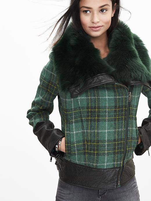 Harris Tweed Moto Jacket Product Image | Fashion | Pinterest