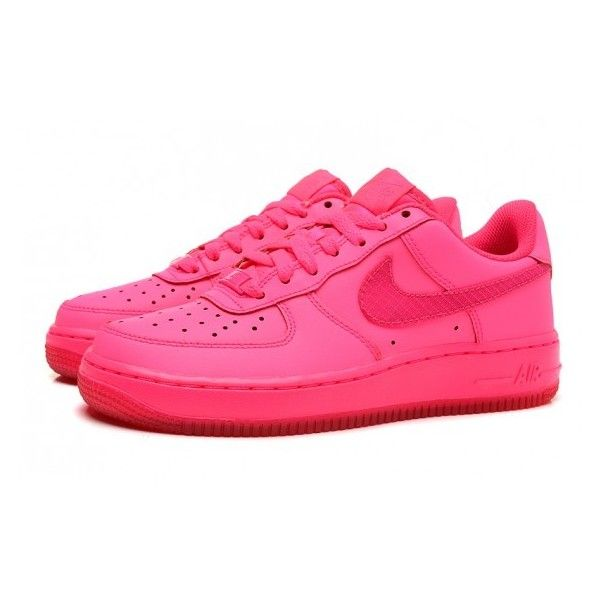 NIKE AIR FORCE 1 GS Shoes Whole Rose via Polyvore featuring shoes, rosette  shoes,